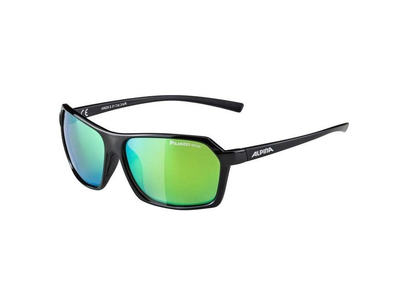 Alpina Finety P Black Polarised Mirror Green Lens click to zoom image