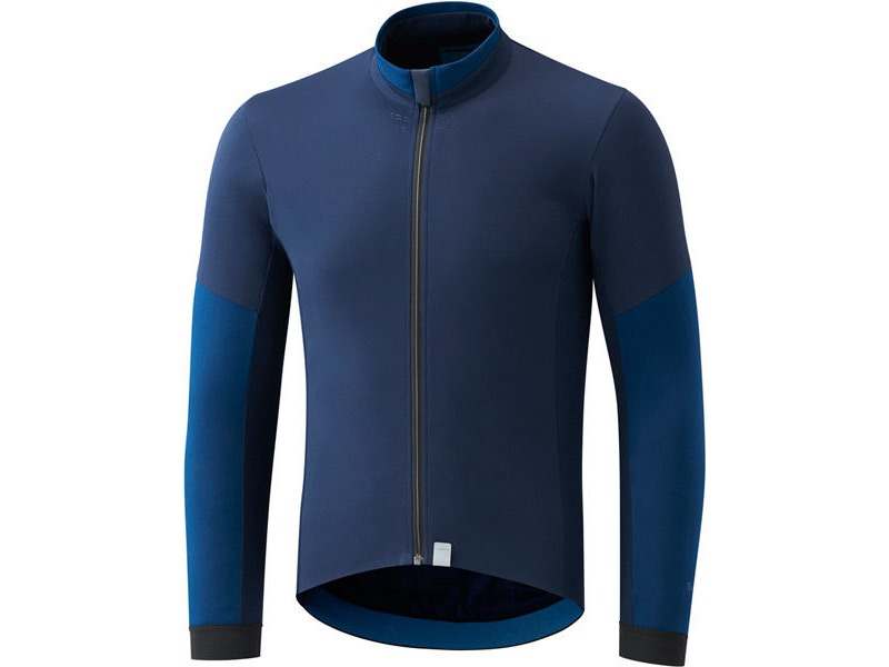 Shimano Clothing Men's Evolve Wind Jersey, Navy click to zoom image